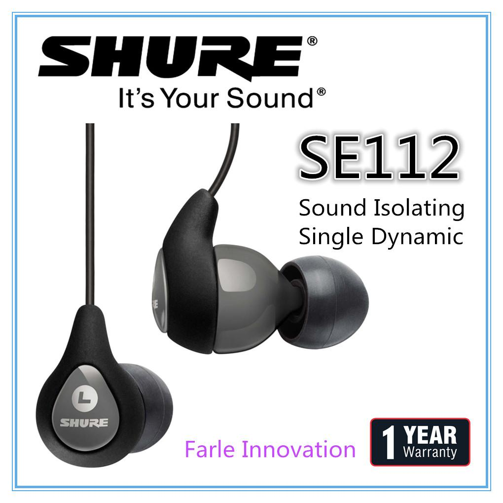 Price Comparisons Of Shure Se112 Sound Isolating Earphones With Single Dynamic Microdriver Sg 1 Year Warranty