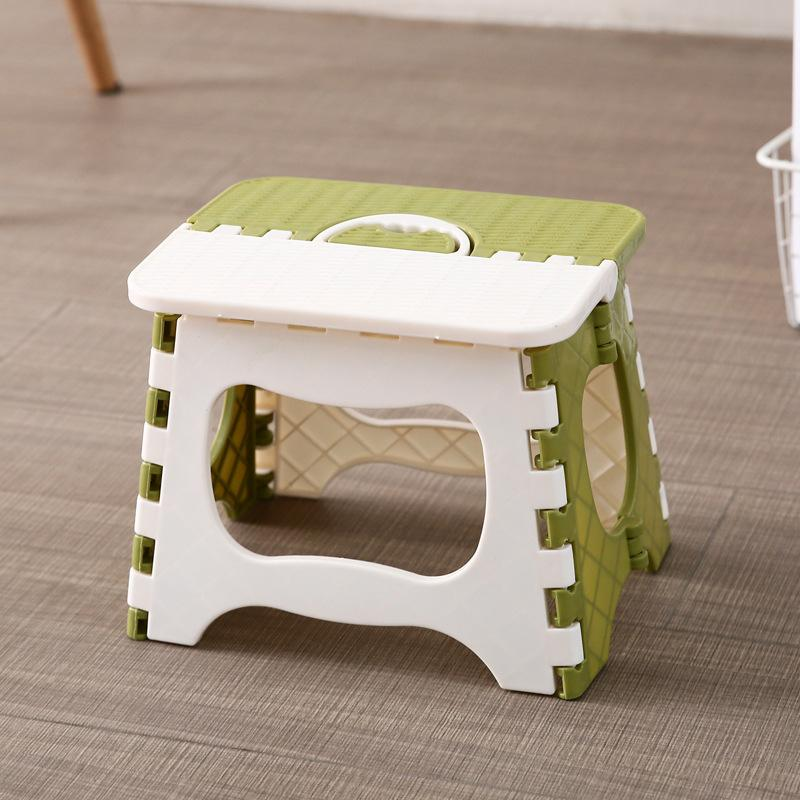 Home Color Plain Folding Stool Children Bathroom Stool Adult Queue Artifact Portable Plastic Folding Stool (SMALL)