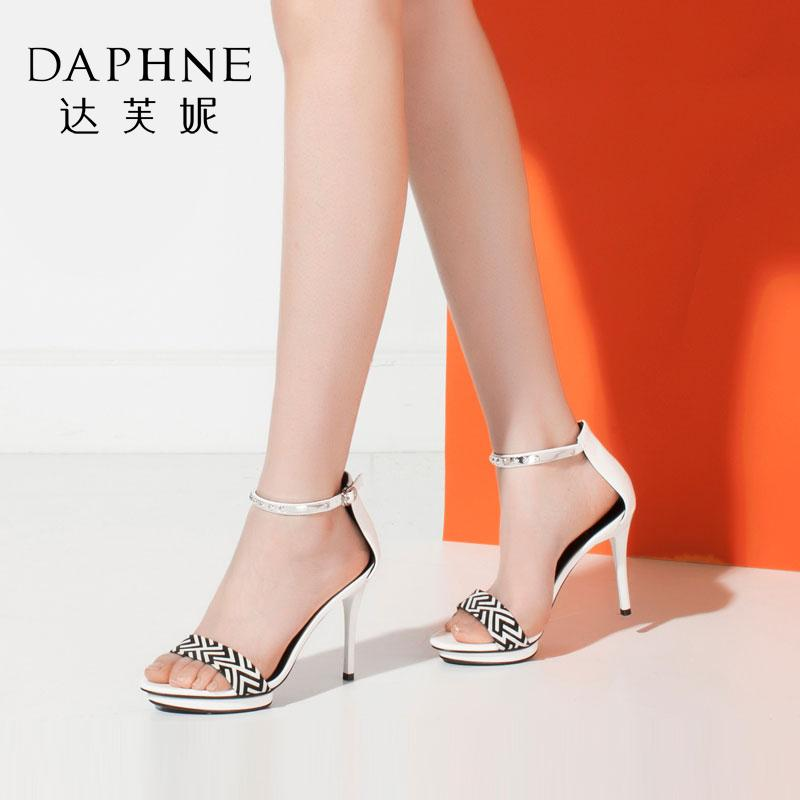 Daphne Metal Waterproof Platform High Heel Sandals Women S Shoes Shop