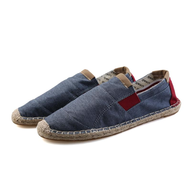 Price Compare Lazy Stylish Linen Fisherman Breathable Shoes Summer Canvas Shoes