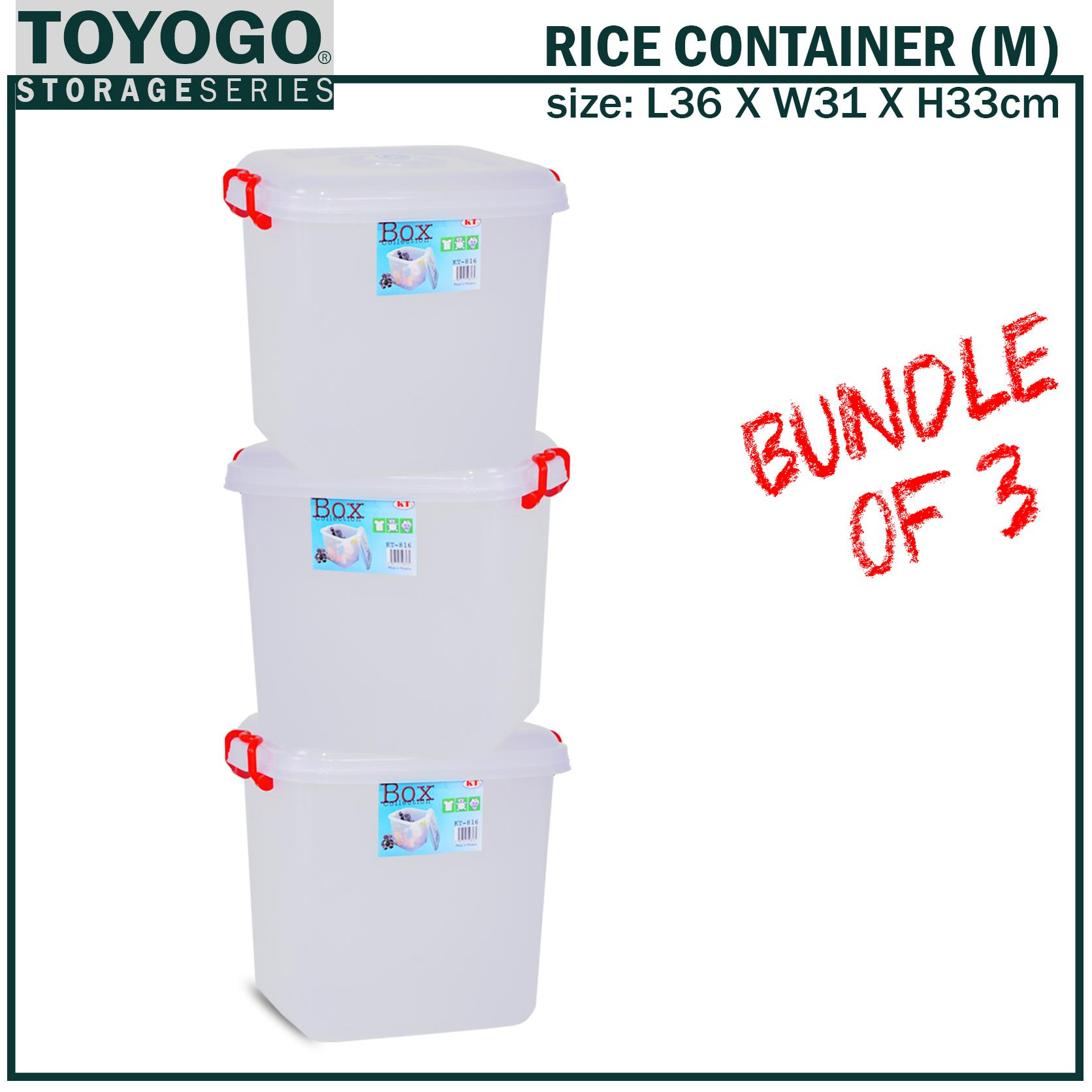 *BUNDLE OF 3 [KT-816] TOYOGO - RICE CONTAINER (HOUSEHOLD STORAGE)