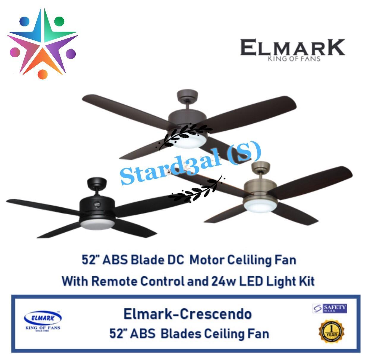 """ELMARK CRESCENDO 52"""" ABS Blades Remote Contorl Ceiling Fan"""
