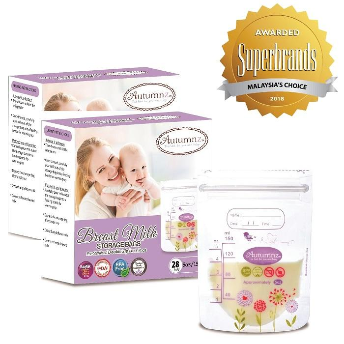 Best Autumnz Double Ziplock Breast Milk Storage Bag 5Oz 28 Bags Box 2 Boxes