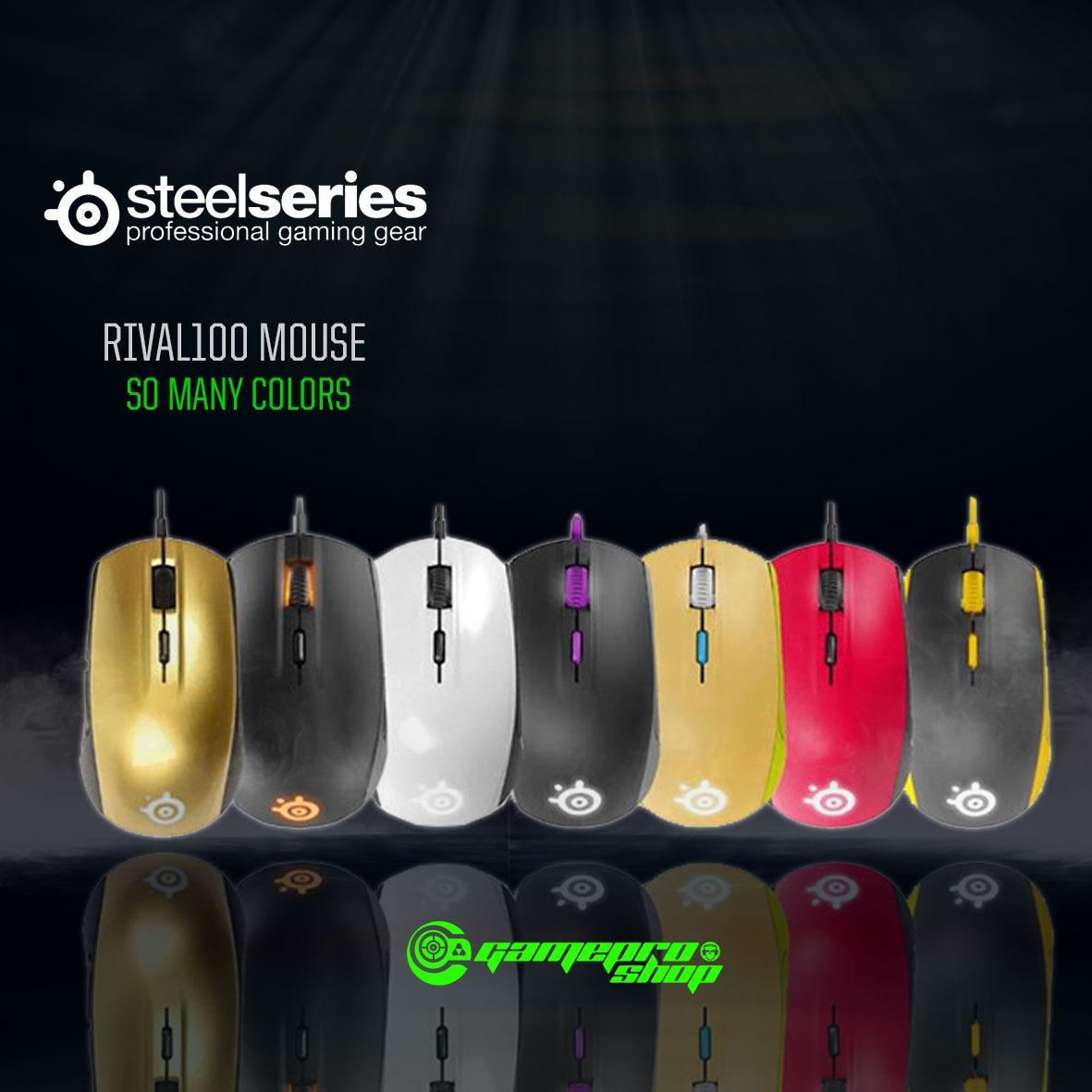 Best Price Steelseries Rival 100 Customisable Rgb Gaming Mouse Black Gss Promo