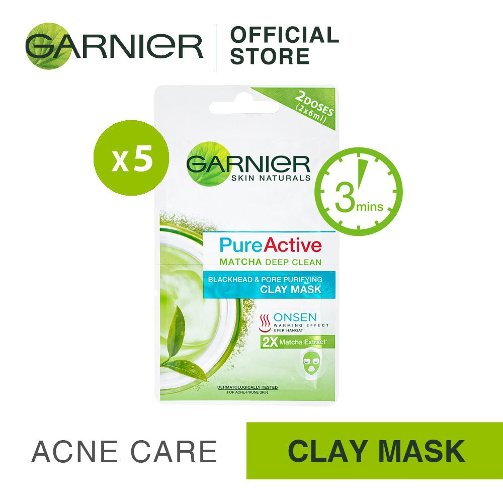 How To Buy Garnier Pure Active 3in1 Wash Scrub Mask Singapore Matcha Deep Clean 50ml Bundle Of 5s Clay Acne Care