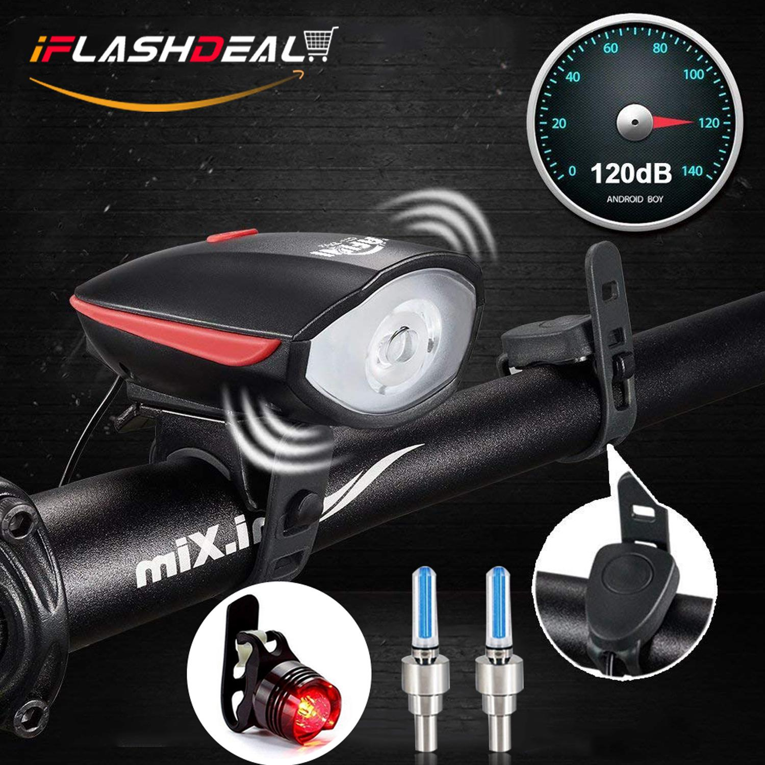 Bike Lights For Sale Cycling Online Brands Prices Car Headlight Alarm Iflashdeal Usb Rechargeable Light Set Bicycle Tail Led Front And Back Rear Horn