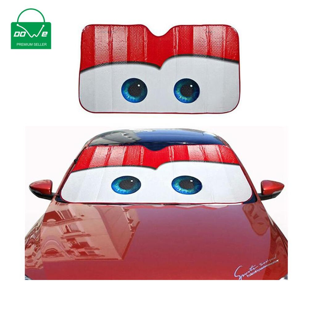 Castaleca 5 Colors Eyes Pixar Heated Windshield Sunshade Car Window Windscreen Cover Sun Shade Auto Sun Visor Car Covers Intl Cheap