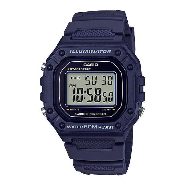 Casio Standard Digital Navy Blue Resin Band Watch W218H-2A W-218H-2A Malaysia