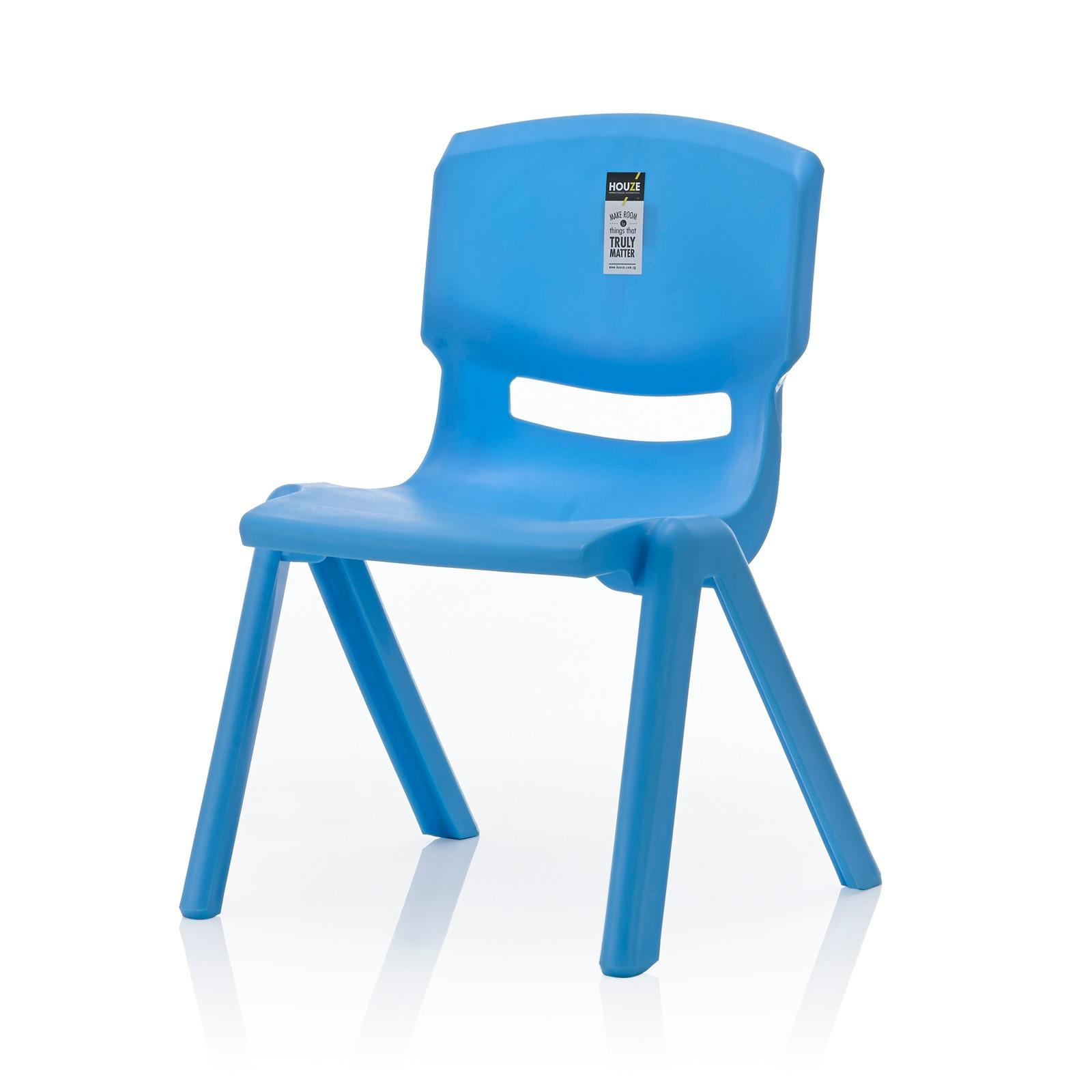 HOUZE   Signature Kids Chair With Backrest (Blue)