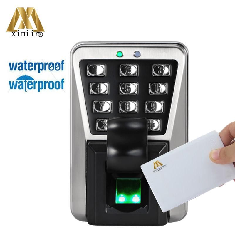 IP65 Waterproof Fingerprint Door Access Control System With 13.56MHZ MF IC Card Reader And Keypad ZK MA500 Fingerprint Reader