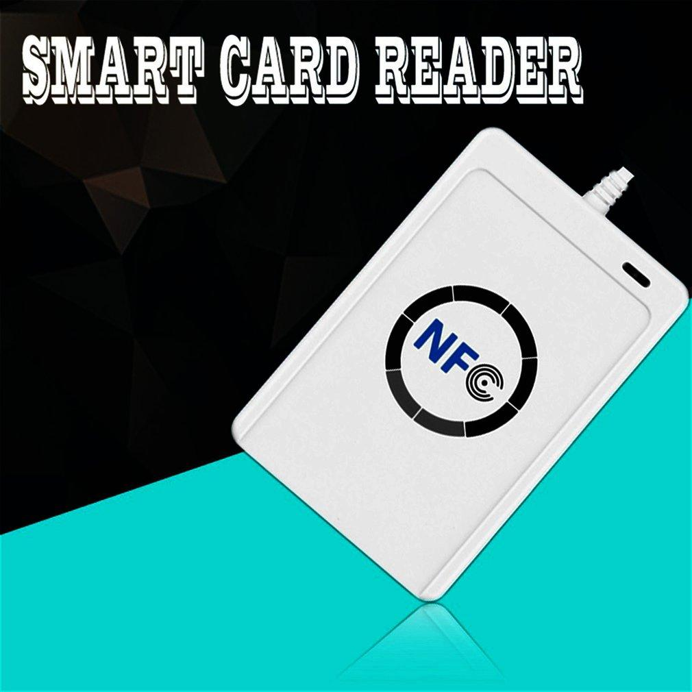 1 set Professional USB ACR122U NFC RFID Smart Card Reader For all 4 types of NFC (ISO/IEC18092) Tags + 5pcs M1 Cards