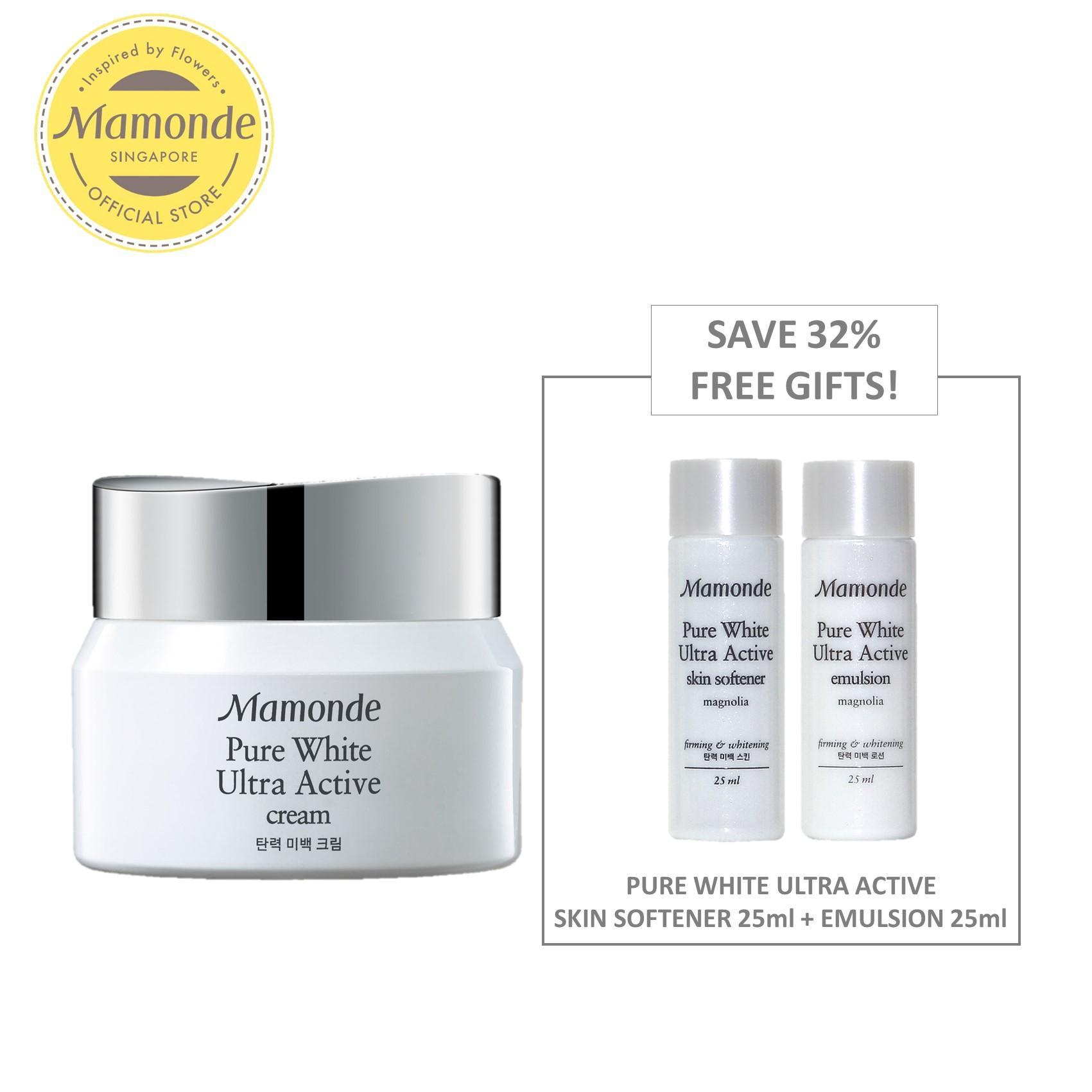 Mamonde Pure White Ultra Active Cream 50Ml Set Exclusive Online