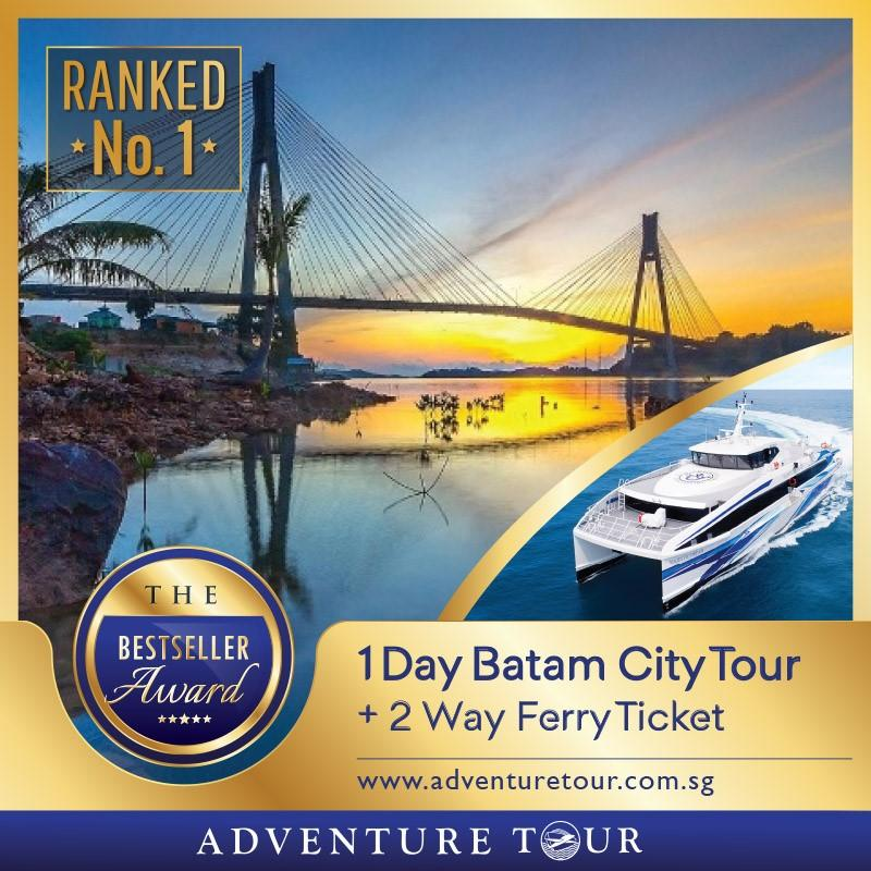 Batam 2-Way Ferry Ticket + 1 Day Batam City Tour
