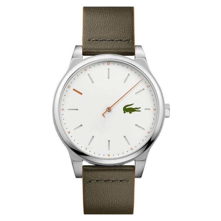 Lacoste CAPBRETON Green Stainless-Steel Case Leather Strap Mens 2010967