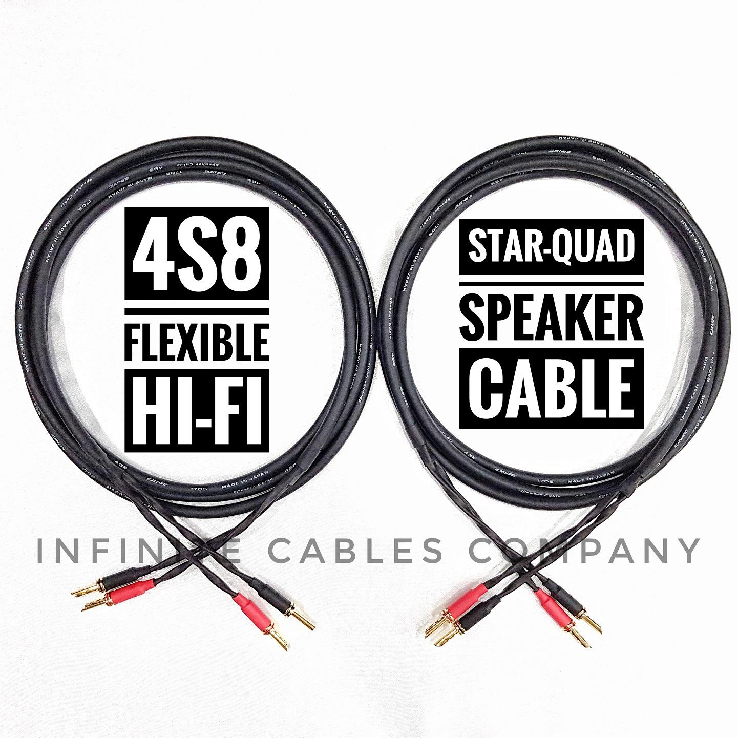 Quality Speaker Cable Canare 4S8 3 Meter Pair Price