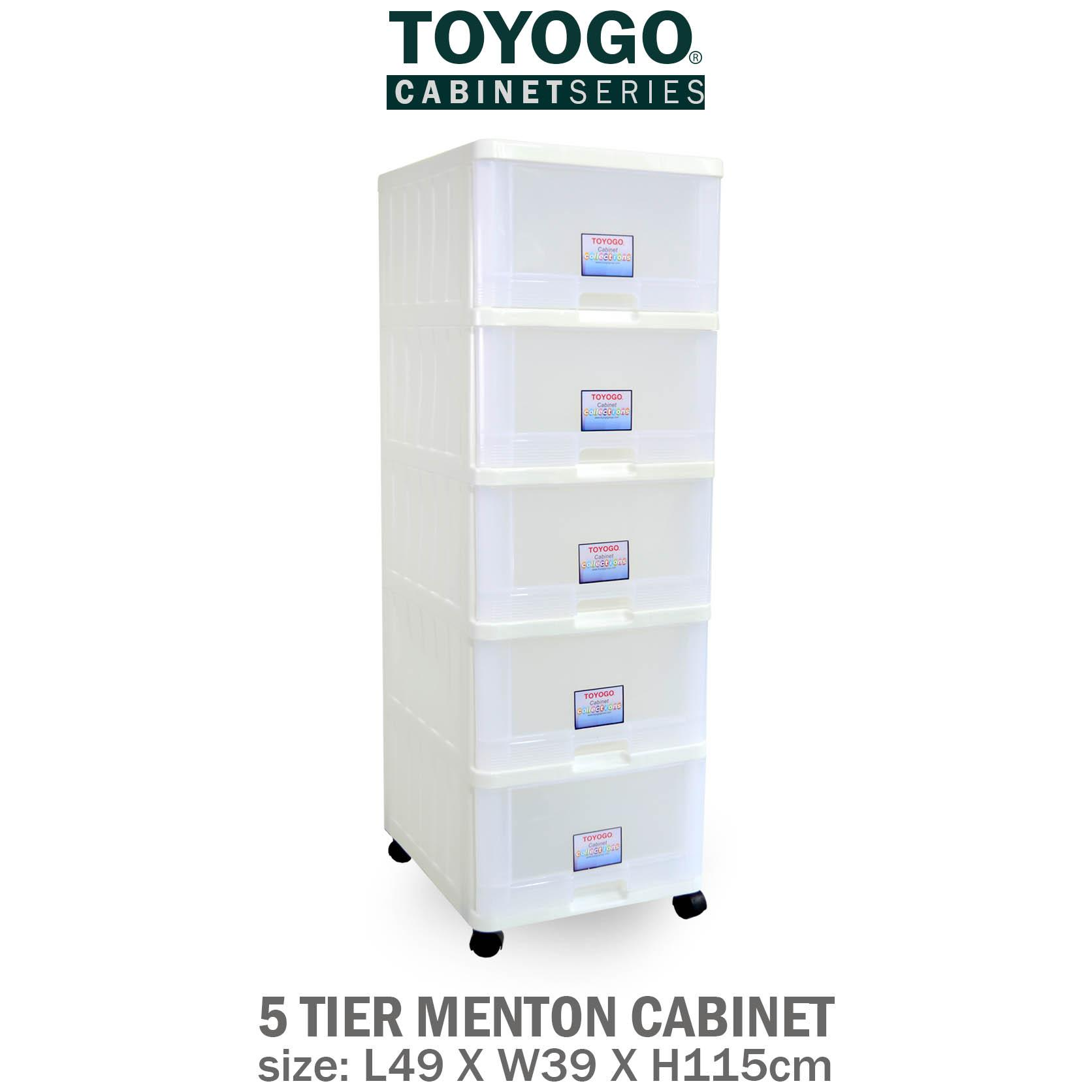 Best Price 707 5 Toyogo Plastic Storage Cabinet Drawer With Wheels 5 Tier