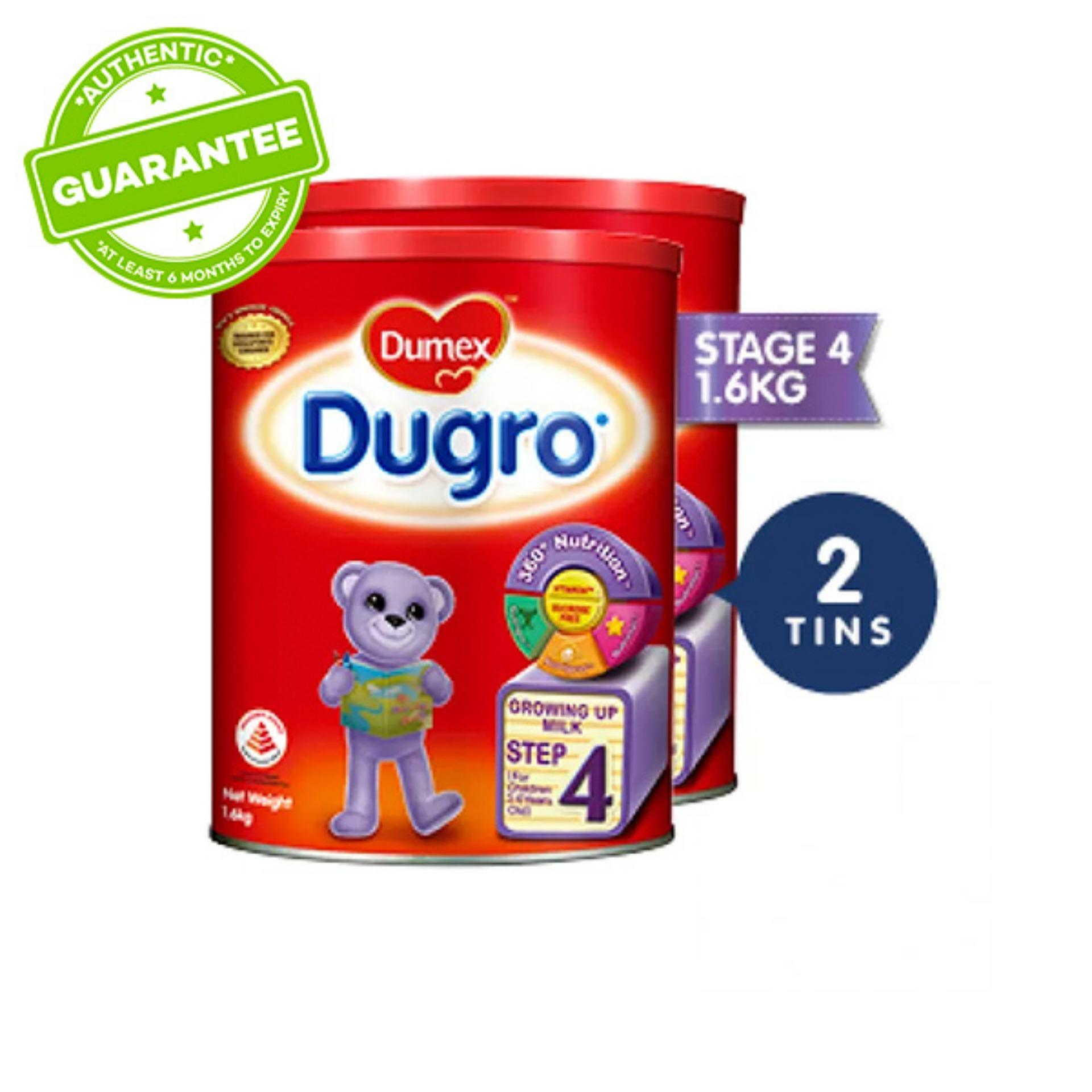 Dumex Dugro Stage 4 Growing Up Kid Milk Formula (1.6kg) X 2 By Lazada Retail Dumex.