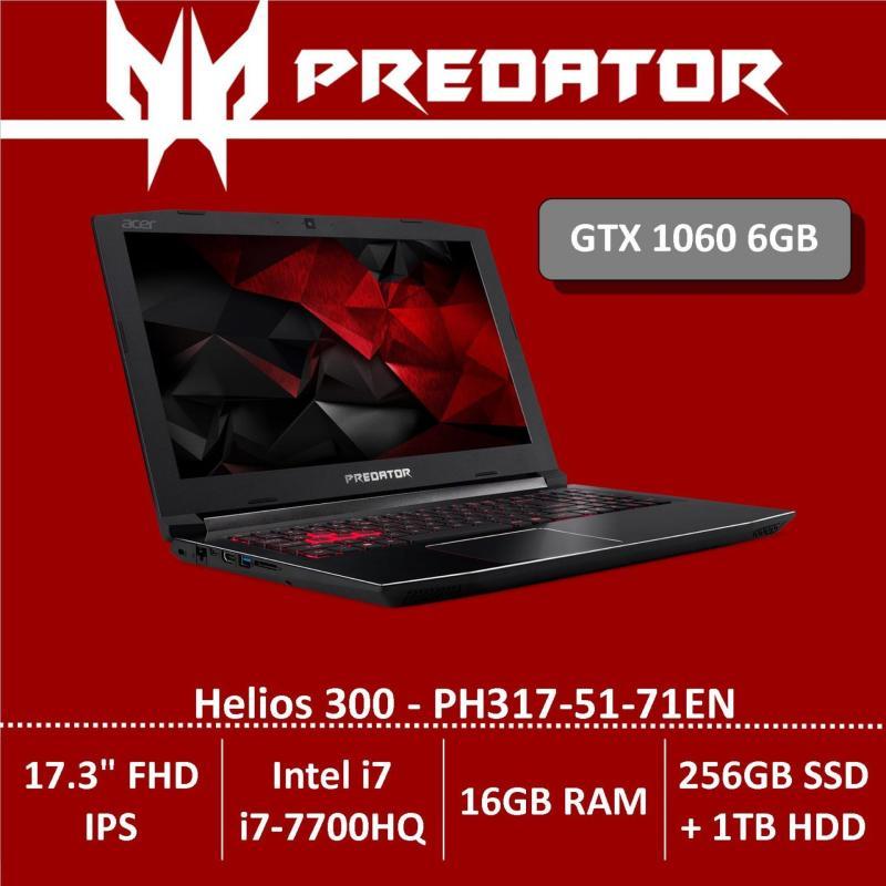 Predator Helios 300 PH317-51-71EN 17.3 FHD IPS Gaming Laptop with Nvidia GTX 1060