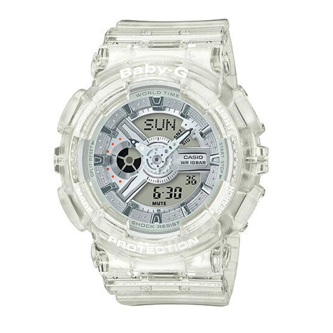 Casio Ba 110cr 7a Baby G Womens Transparent Resin Strap Watch Singapore 112