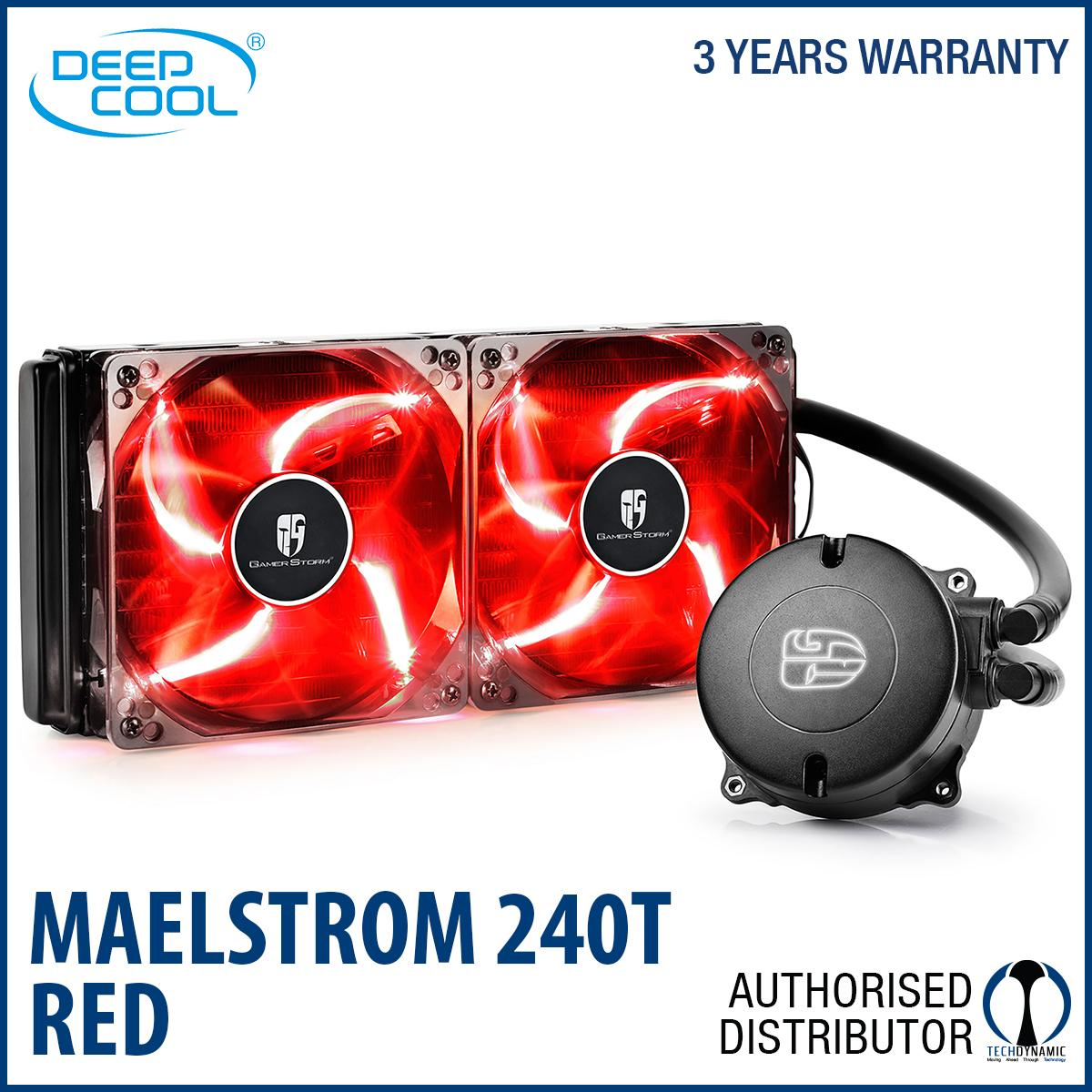 Brand New Deepcool Maelstrom 240T Aio Liquid Cooling Red Led