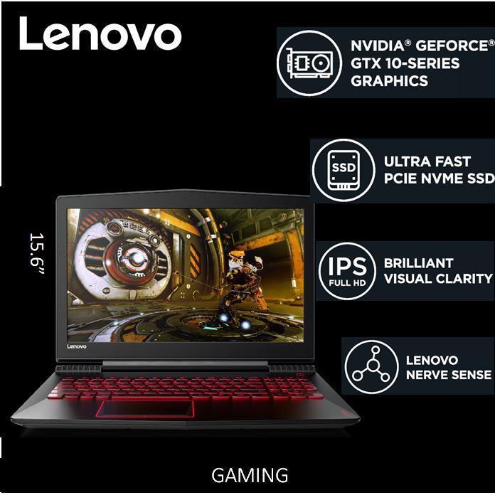 Lenovo LEGION Y520 15.6 FHD IPS AG(SLIM) / i7-7700HQ Black 2 Year Local Warranty