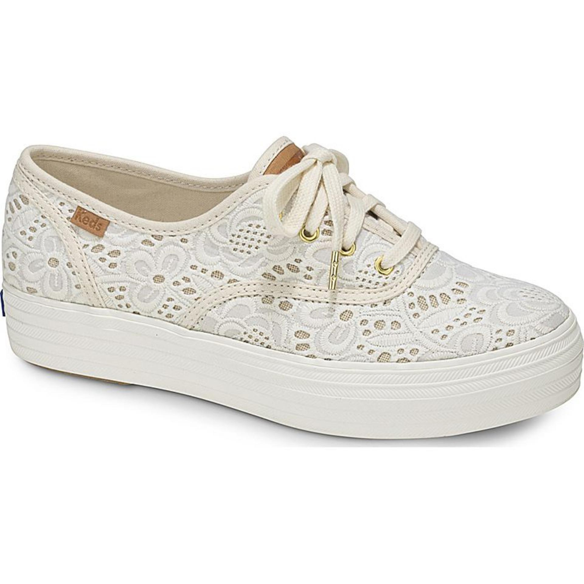 Keds Triple Emroidered Crochet Sneakers Wf58028 Free Shipping