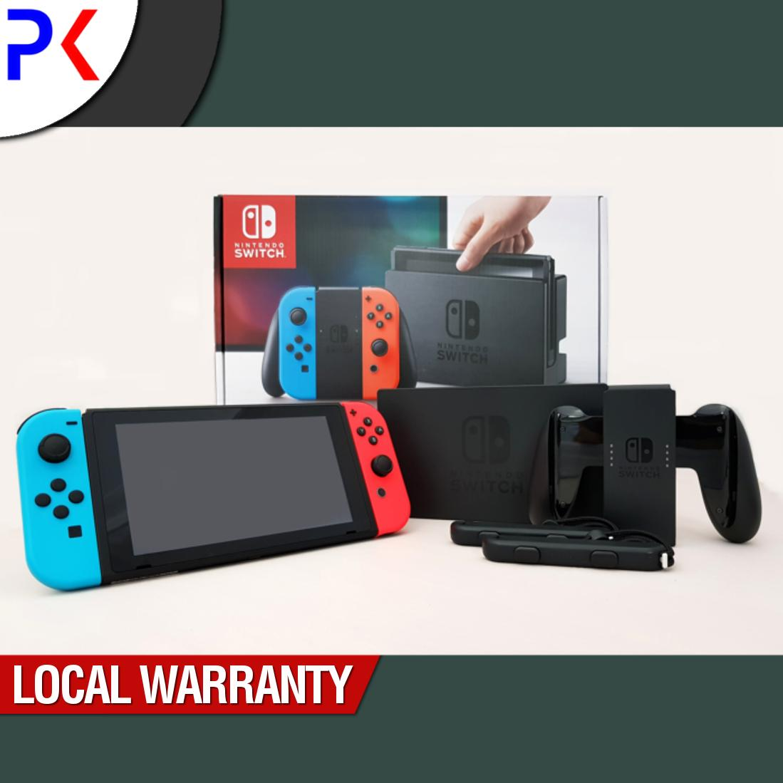 Price Comparisons Of Nintendo Switch Console With Neon Blue Red Joy Con Asia