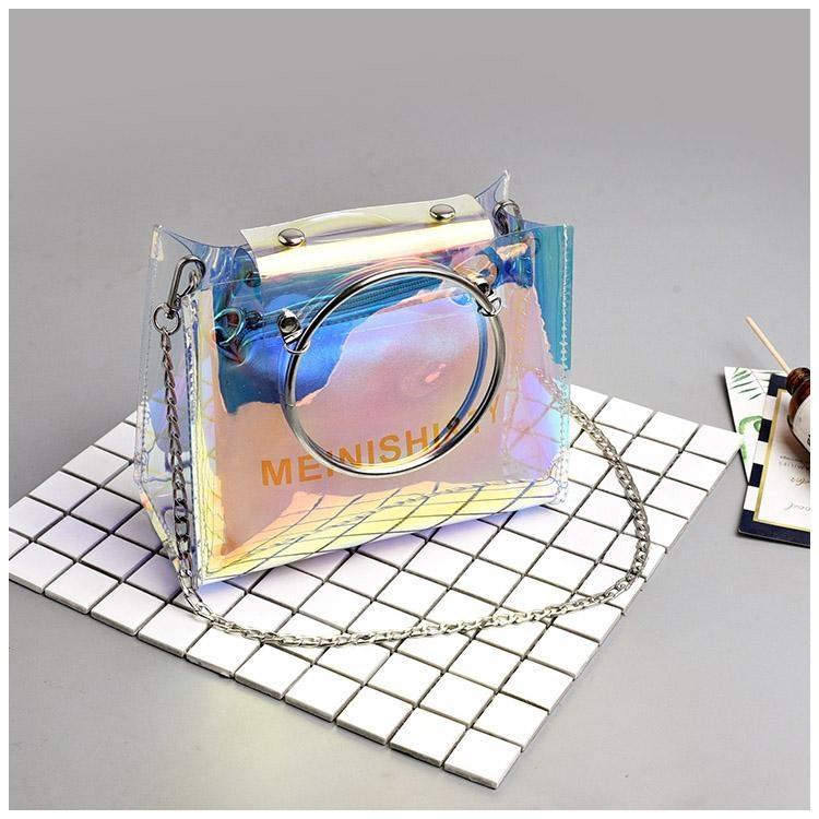 In Super Api transparan Mini tas kecil perempuan 2018 model baru Musim panas jelly Gaya Korea