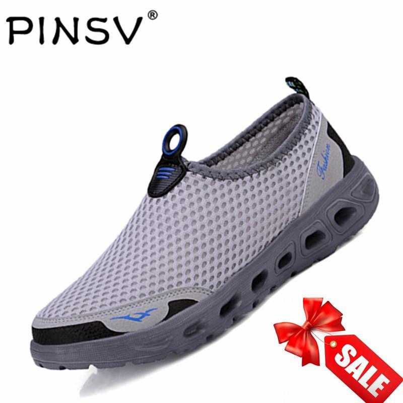 PINSV Jala Sepatu Olahraga Wanita Sepatu Olahraga Air untuk Hardly Breathe (Abu-abu)