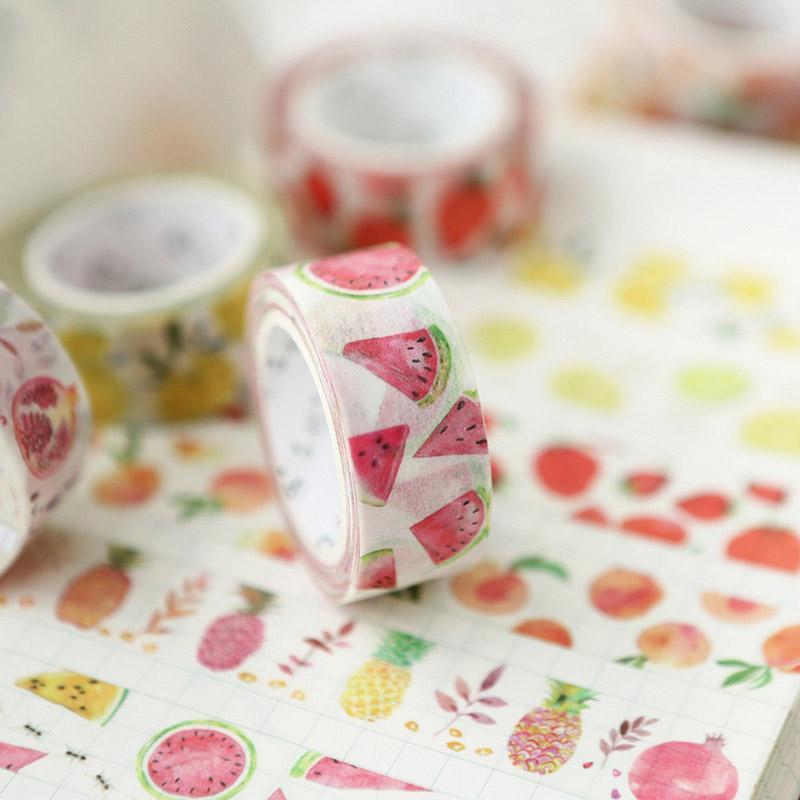Mua 3rolls Cute Kawaii Fruit Masking Washi Tape Diy Decorative Adhesive Tape for Scrapbooking Decoration - intl