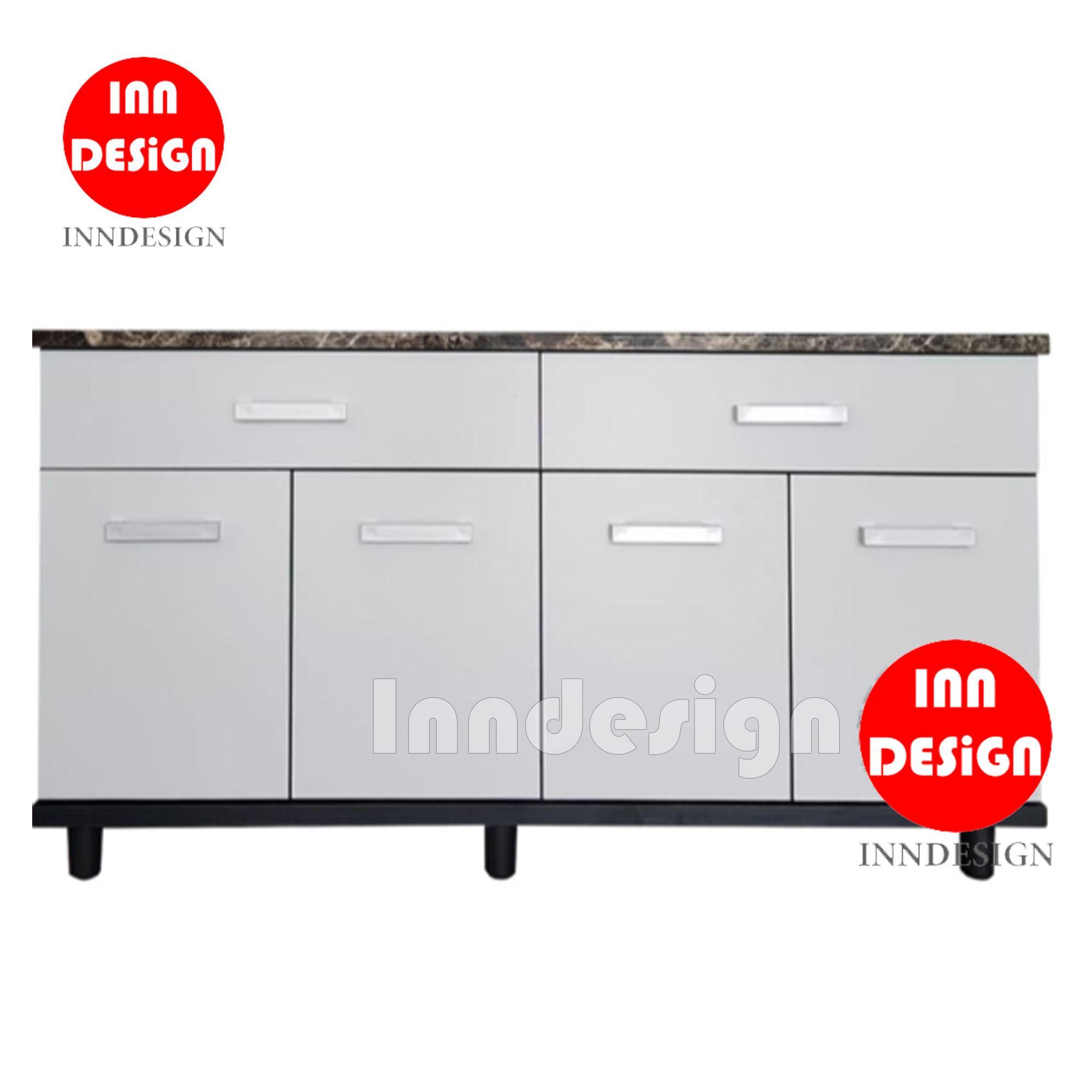 Aurora 4 Doors with 2 Drawers Kitchen Cabinet