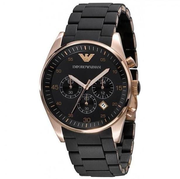 Price Comparisons Emporio Armani Sportivo Chronograph Silicone Strap Mens Watch Ar5905