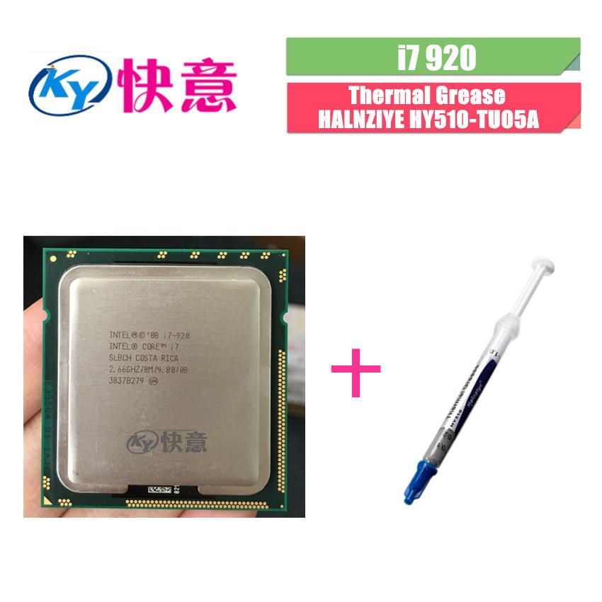 Intel Core I7-920 Slbch/Slbej 2.66 GHz Quad-Core L3 8 M Prosesor Socket LGA1366 I7 920 CPU bekerja 100%-Intl