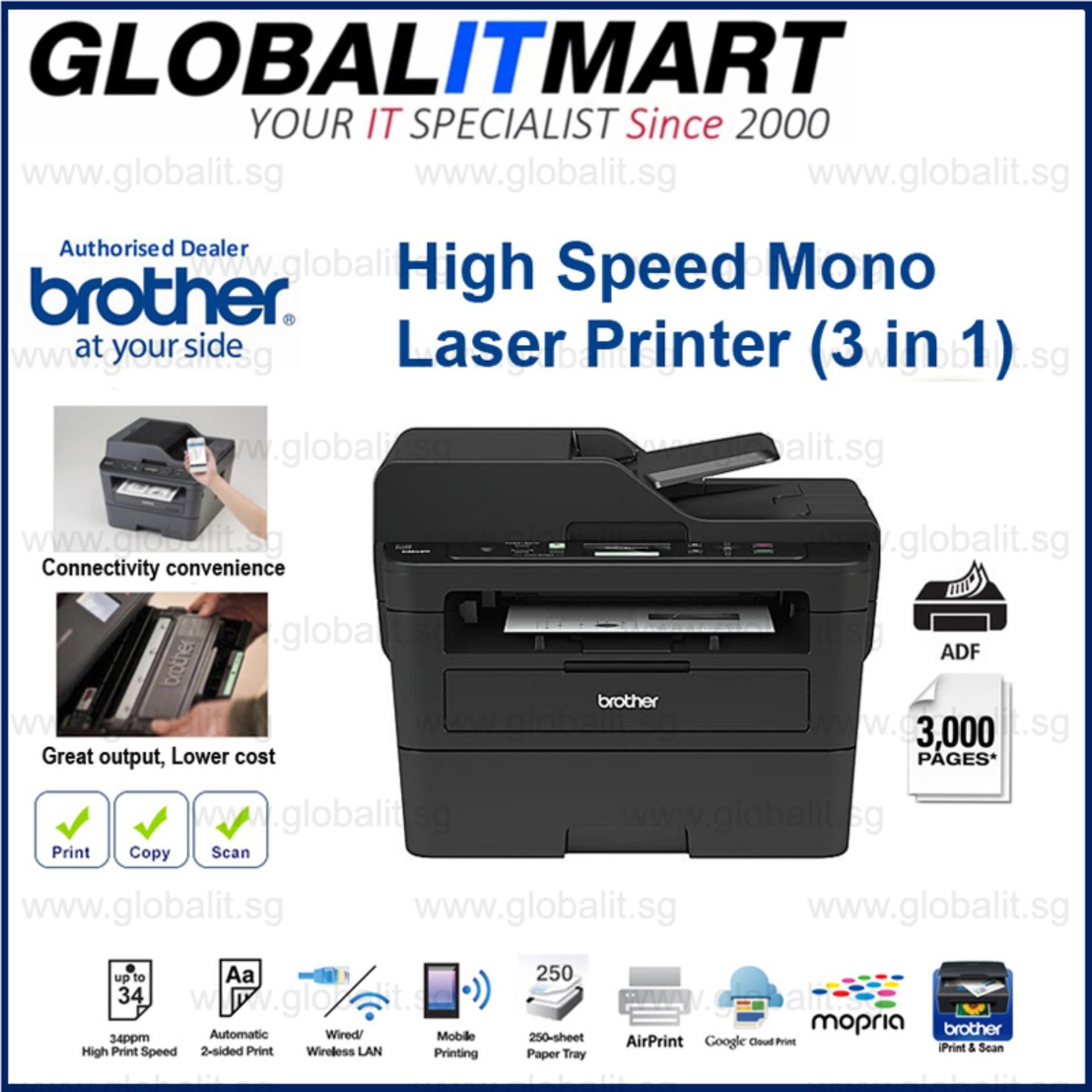 Buy Brother Dcp L2550Dw 3 In 1 With Adf Mono Laser Printers Online Singapore