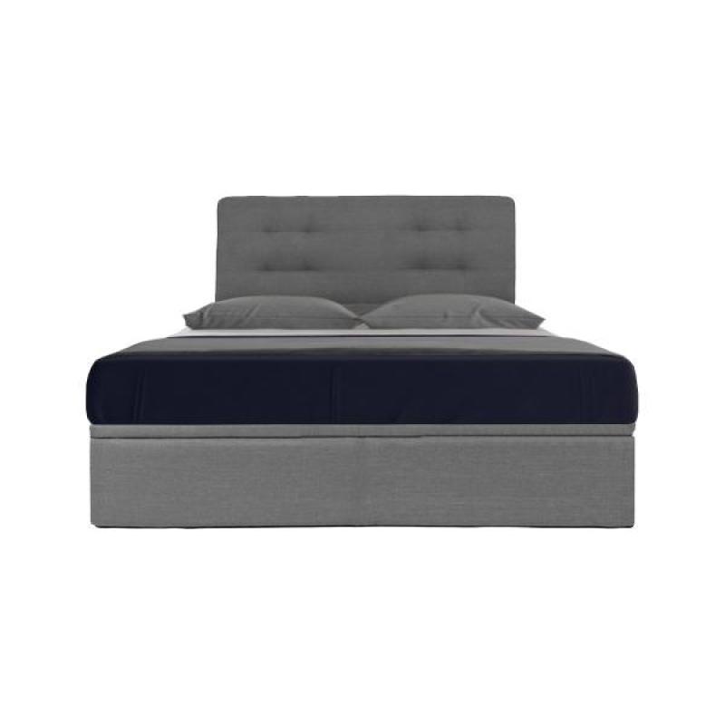 [Megafurniture]Boris Grey Fabric Storage Bed (Queen Size)