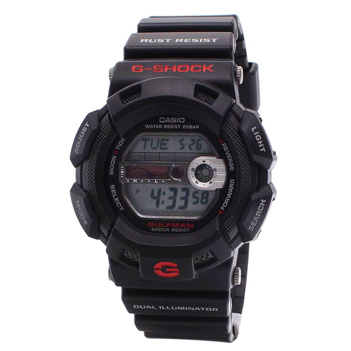 Price Casio Watch G Shock Professional Black Resin Case Resin Strap Mens G 9100 1D Casio Original