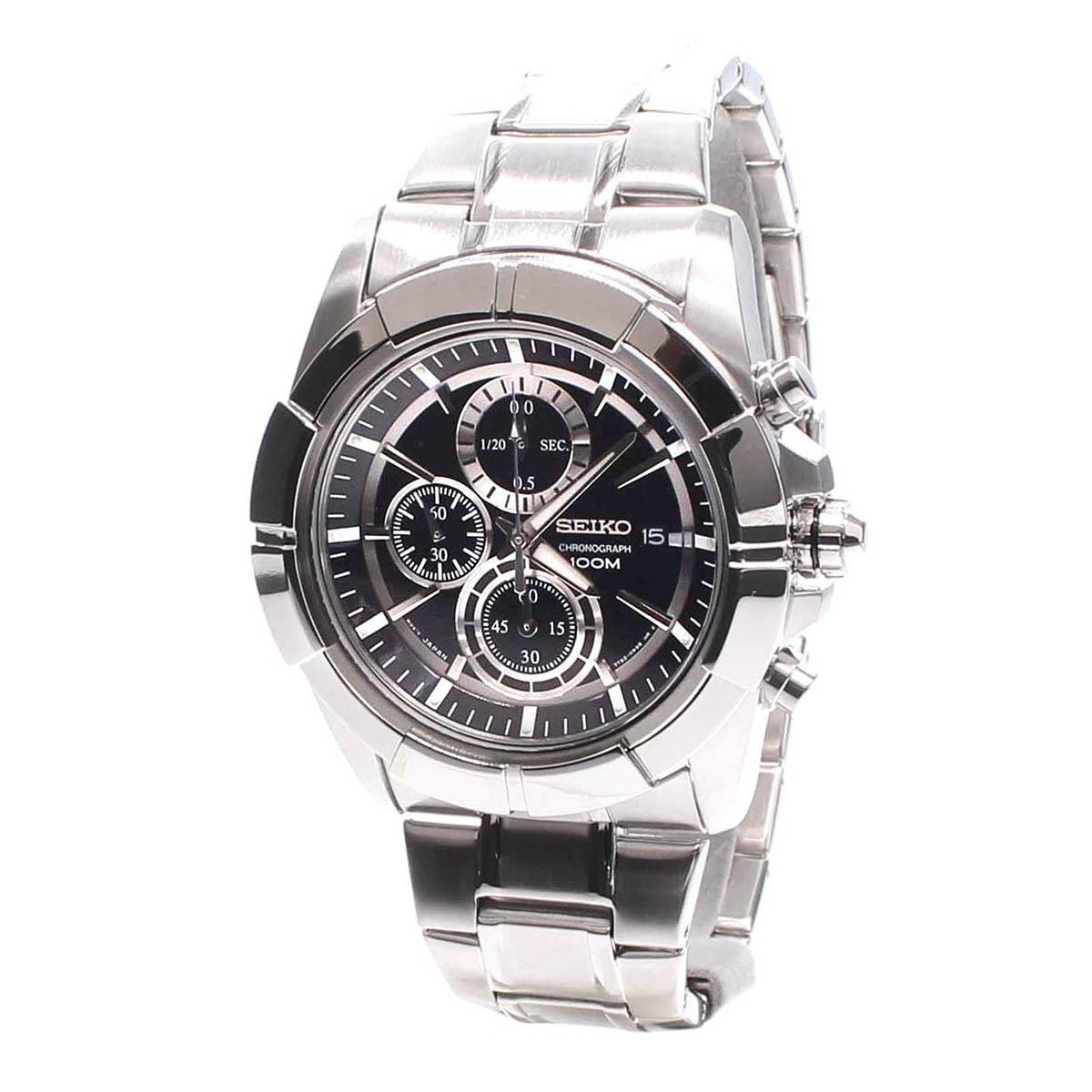 Great Deal Seiko Watch Lord Chronograph Silver Stainless Steel Case Stainless Steel Bracelet Mens Japan Snde65P1
