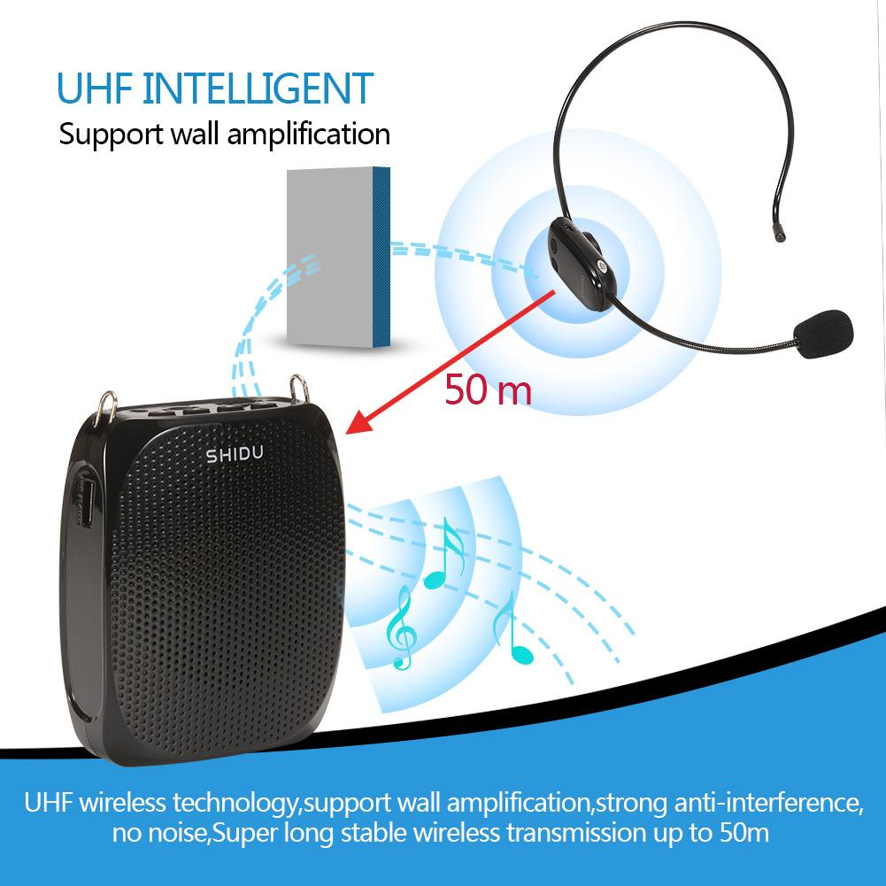 Product details of SHIDU Wireless Voice Amplifier audio Megaphone Microphone Loudspeaker with Headset Speaker for Teacher