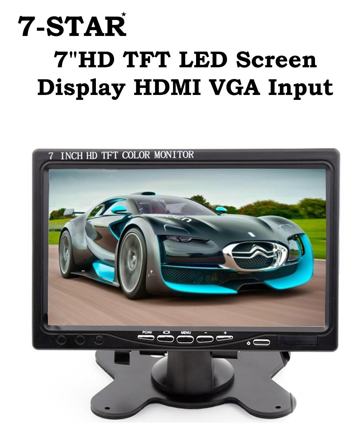 7 inch HDTFT LED Screen Display HDMI VGA Input - 7inch LED Monitor