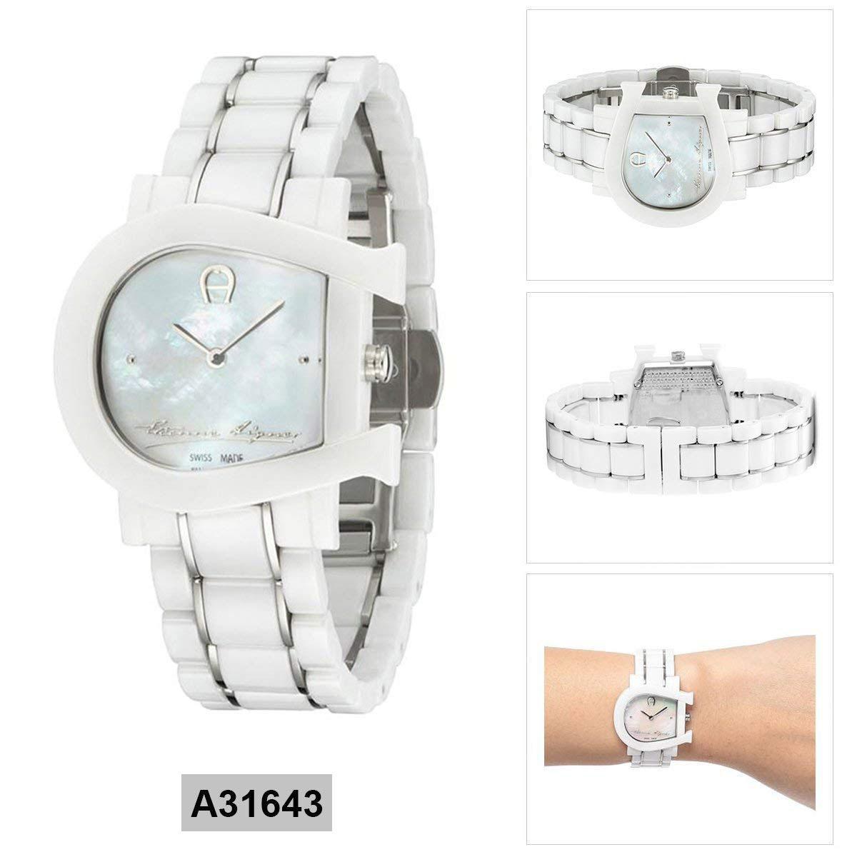Harga Jam Gelang Set Aigner Date Update 2018 A17210 Belluno Hitam Gold Tangan Wanita Genoa Due White Ceramic Case Bracelet Ladies A31643