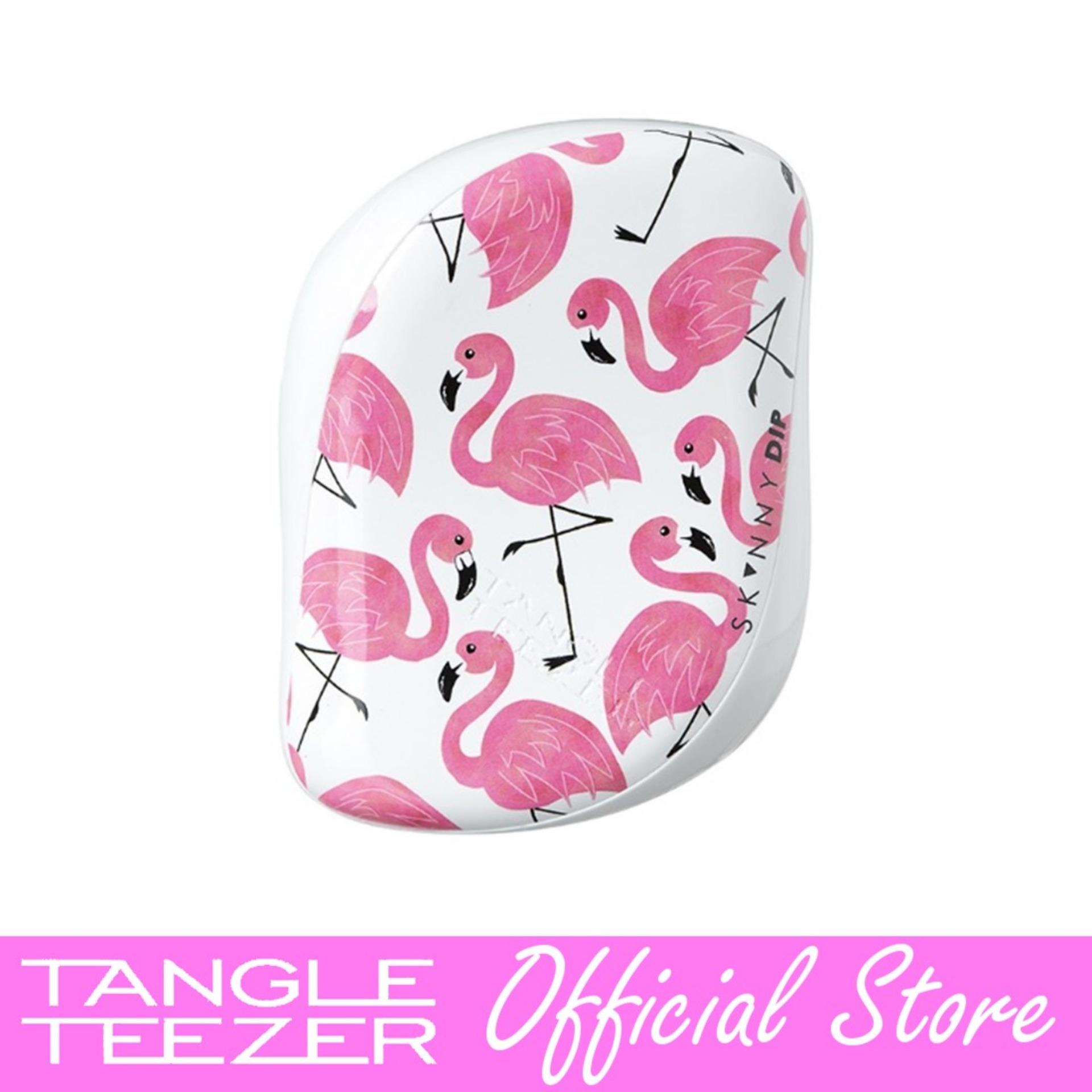 Tangle Teezer Compact Styler Skinny Dip Flamingo Print Singapore