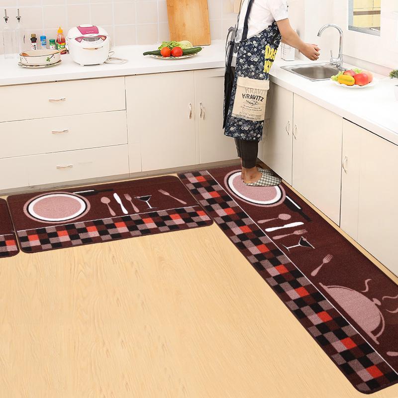Dapur Tikar Panjang menyerap air Anti Selip anti minyak rumah tangga Bantalan kotoran Keset kaki Bisa
