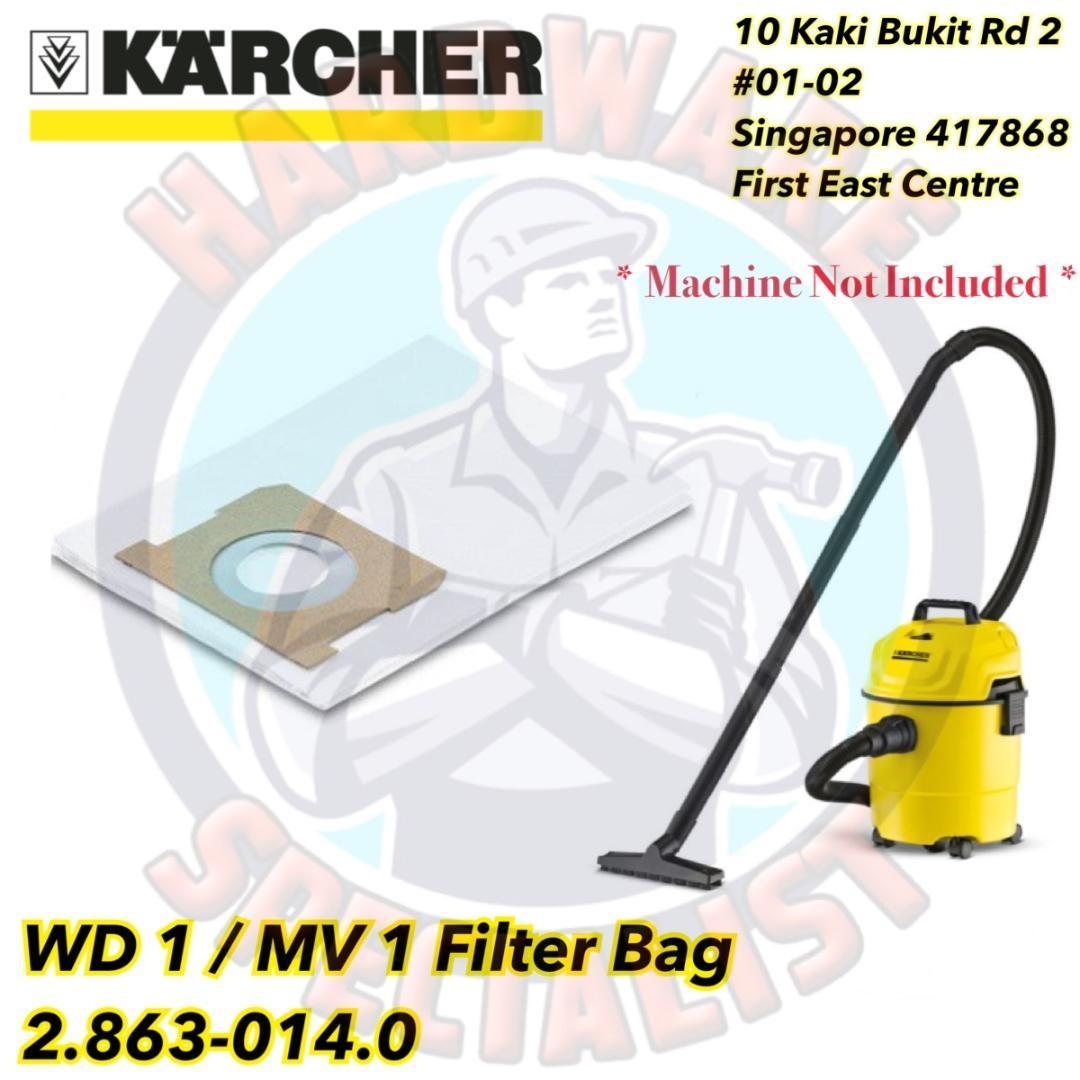 Karcher Wd 1 Mv Vacuum Cleaner Filter Bag 2863 0140 Singapore 2