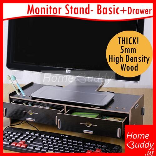 Review Monitor Laptop Stand Version Basic Drawers Thick 5Mm High Density Wood Ready Stocks Sg Reach You 2 To 4 Work Days Homebuddy Acev Pacific Homebuddy On Singapore