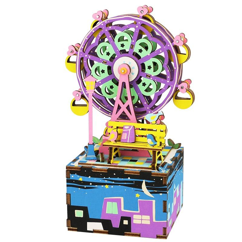 Purchase Limited Time Free Gifts Robotime Diy Music Box Musical Box 2 Ferris Wheel Online