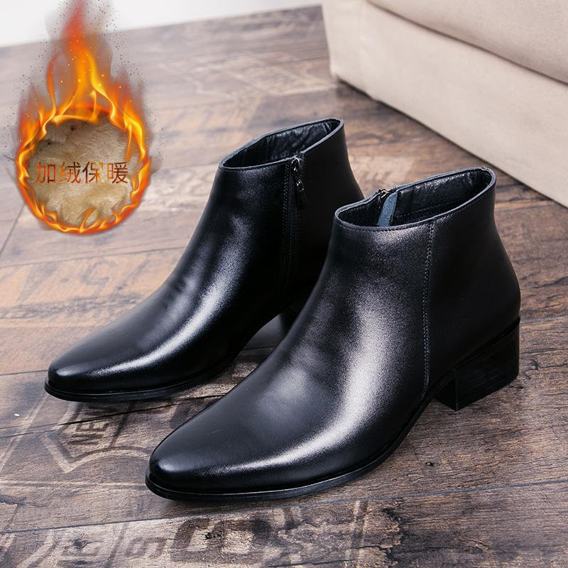 Retail Price The British Martin Male Pointed Boots Men S Shoes