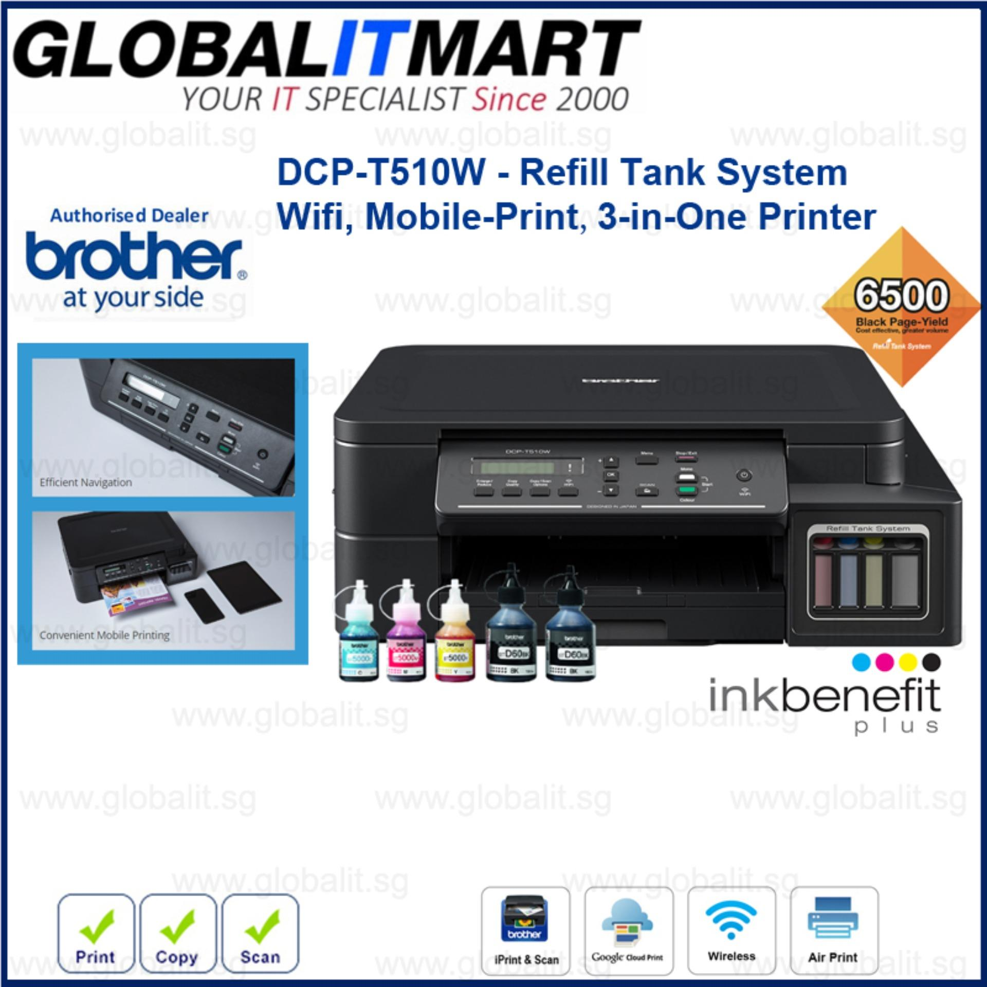 Brother DCP-T510W Refill Tank System – Wifi, Mobile-Print 3-in-One Singapore