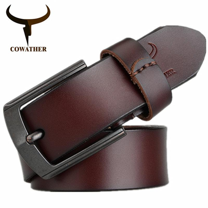 Price Comparisons Cowather Men Dress Belt 100 Cow Leather Reversible Belts For Men With Vintage Alloy Pin Buckle Male Casual Strap Fashion Jeans Waistband