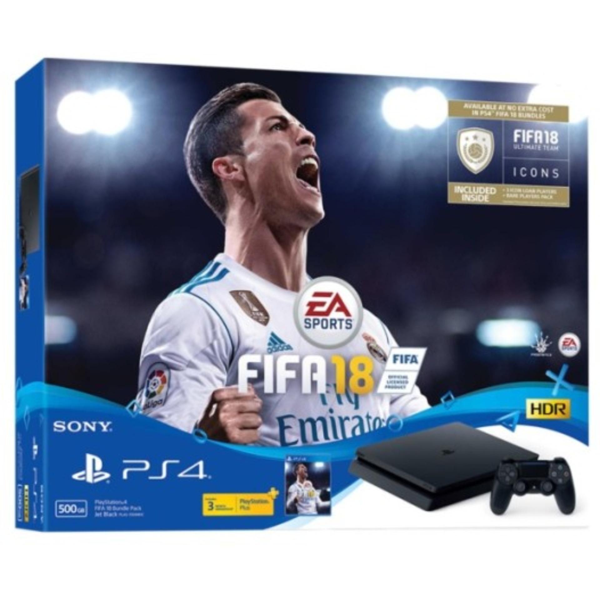Store New Sony Ps4 Slim Console 500Gb Black Ps4 Fifa 18 Sony On Singapore