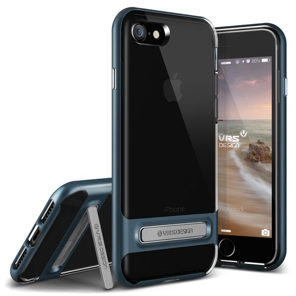 Purchase Vrs Design Crystal Bumper Clear Kickstand Case Iphone 7 Iphone 8 Deep Blue Online